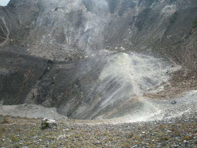 Almost at the edge of the crater