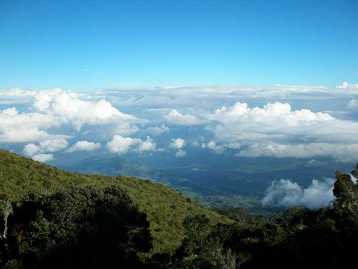 Above the clouds at Volcan Turrialba