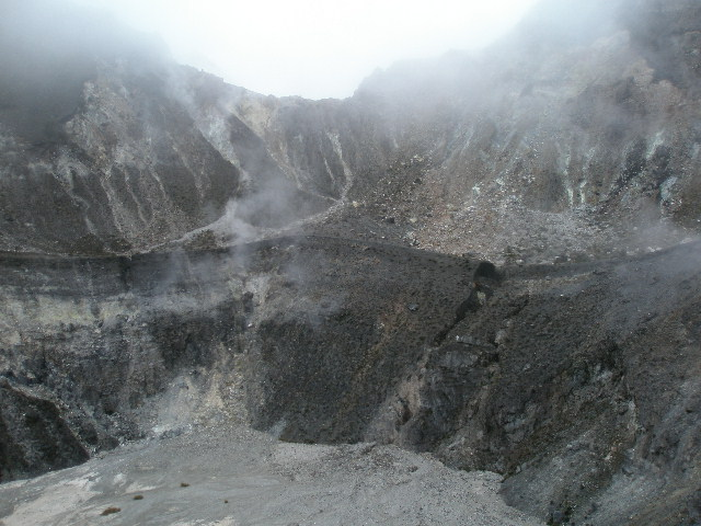 View of the main crater