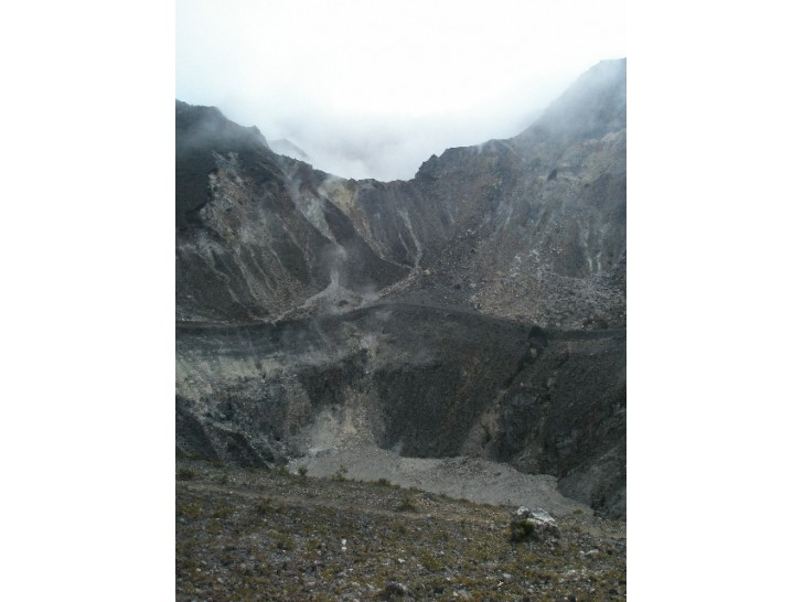 One of the craters at Turrialba volcano