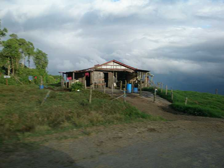 Small farmers house at the volcano slopes