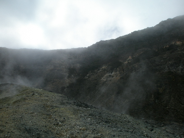 Typical moon scenery found at volcanoes.