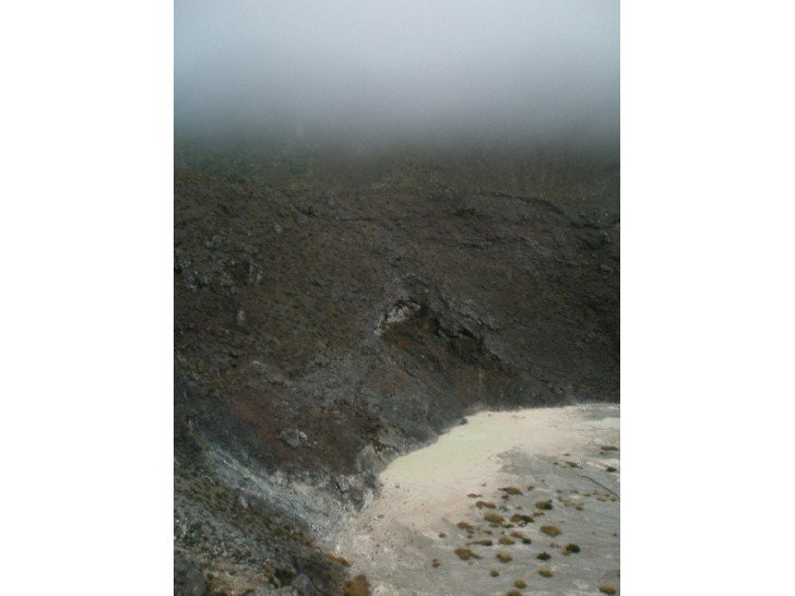 The edge of the newest crater at the Turrialba volcano